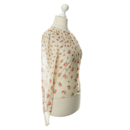 Blumarine Mesh jacket with rose-print