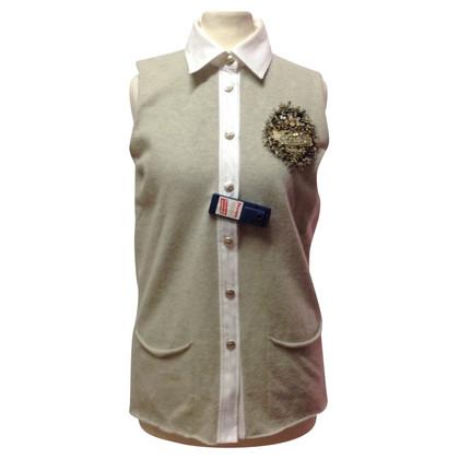 Chanel Trui met blouse kraag