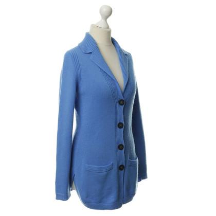 Iris von Arnim Knit jacket in Azur blue