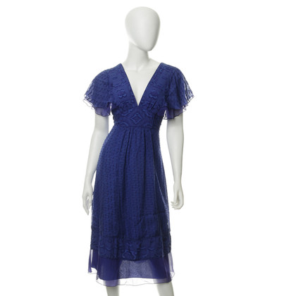 Anna Sui Blue pattern dress