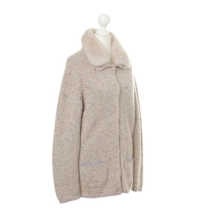 Bogner Cardigan with fur collar