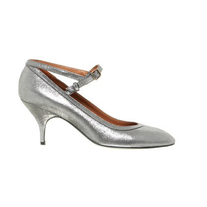 Lanvin pumps with silver shimmer