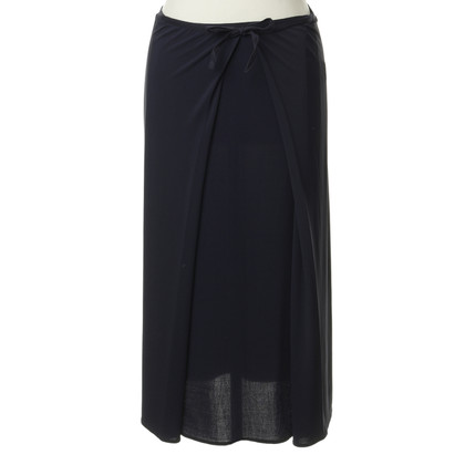 Marithé et Francois Girbaud Wrap skirt in dark blue