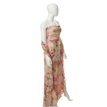 Escada Maxi jurk met sjaal