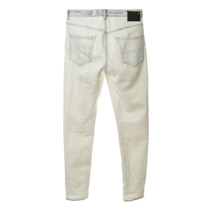 R 13 Jeans with bleach-look