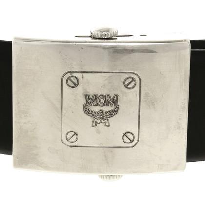 MCM Black leather belt
