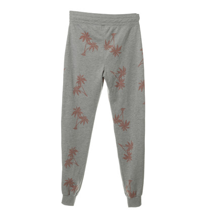 Juvia Casual pants in grey with palm print