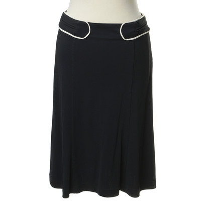 Etro Dark blue skirt with bright piping