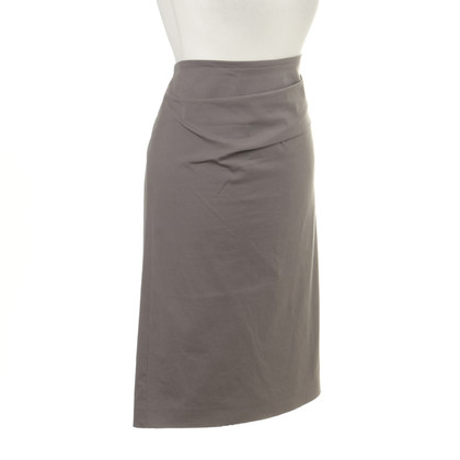 Brunello Cucinelli Grey skirt with pleats detail