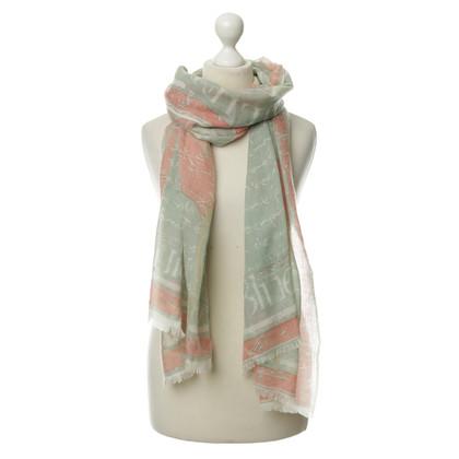 Andere merken Cashmere sjaal in Rosé groen-