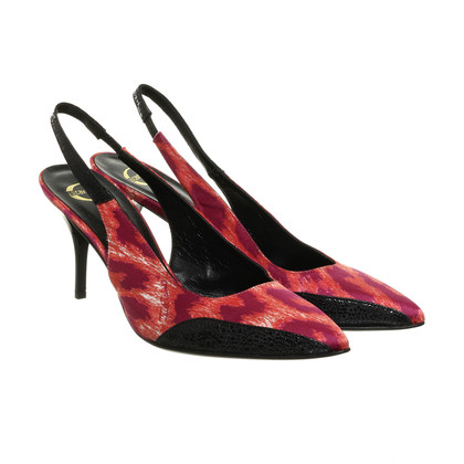 Just Cavalli Slingback-Pumps im Animal-Look