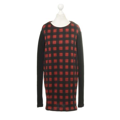 Maje Rouge et noir Plaid dress