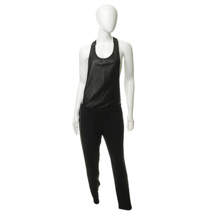 Other Designer 8PM-jumpsuit with material mix
