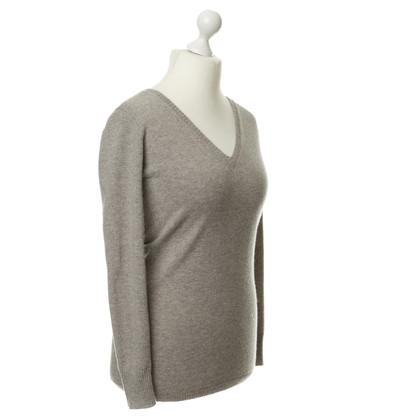 FTC Pullover in cashmere marrone-grigio