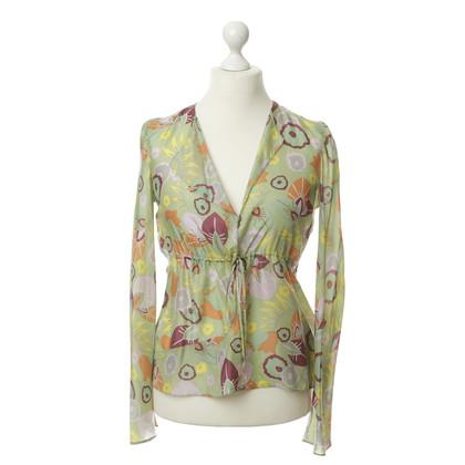 Marni Floral silk blouse