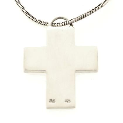 JOOP! Collana in argento con pendente croce
