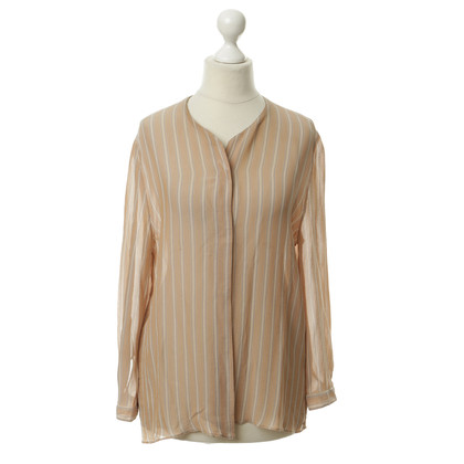 Armani Enigszins transparant stripe blouse