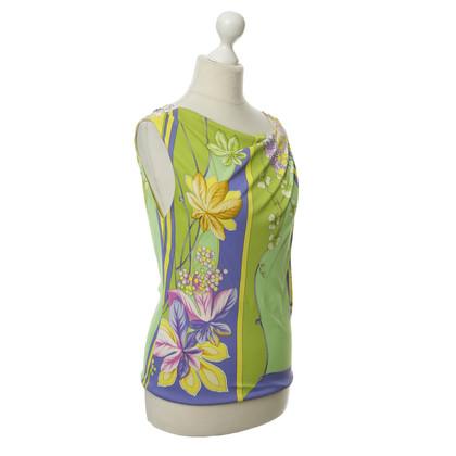 Gianni Versace Top met bloemenpatroon