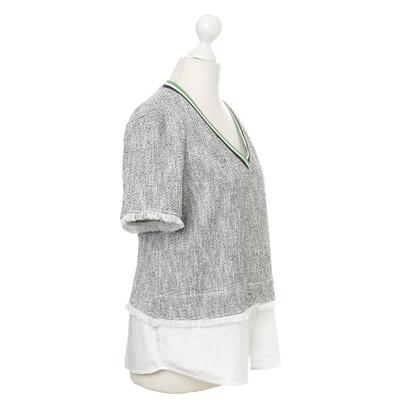 Pinko Sporty shirt with tasselled hems