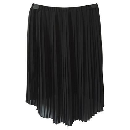 Michael Kors Black Pleated High Low Skirt