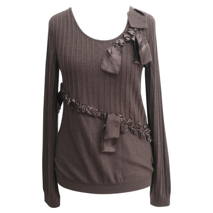 Christian Dior Cashmere top with silk