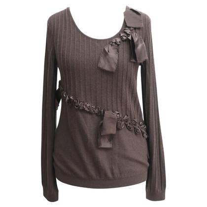 Christian Dior Cashmere top met zijde