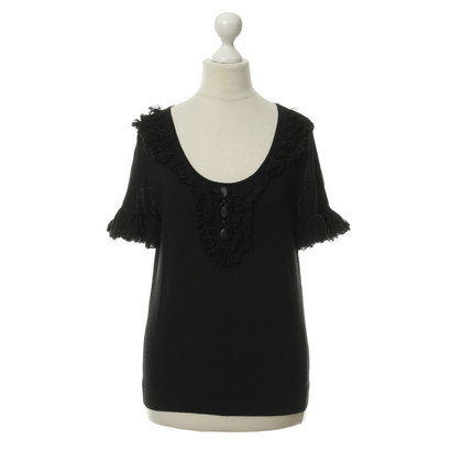Red Valentino Top met tulle ruffles