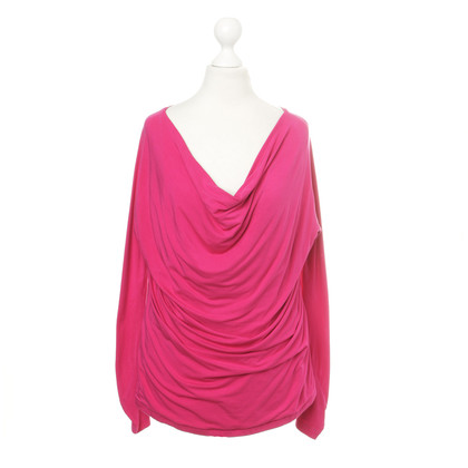 Donna Karan top with a waterfall neckline