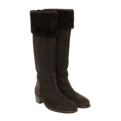 Baldinini Suede boots with fur