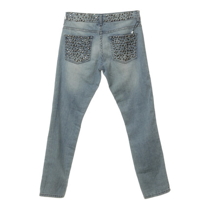 Ferre Jeans with studs and semi-precious stones