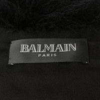 Balmain Cape made of Turkey feathers and silk