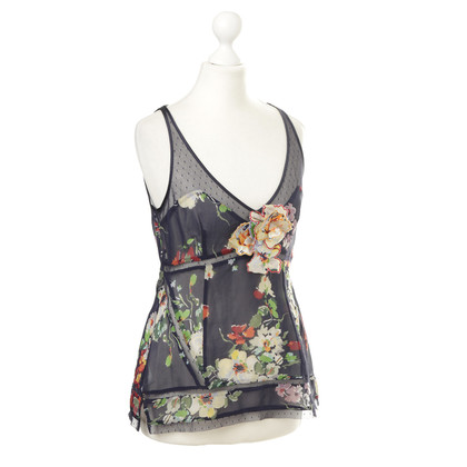 Karen Millen Silk top with flowers