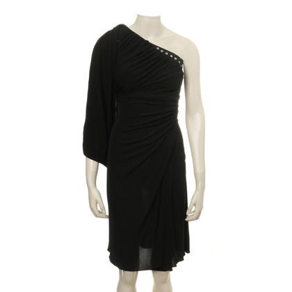 Karen Millen Één-schouder jurk met gat klinknagels