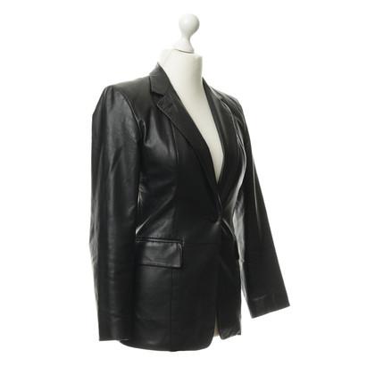 DKNY Lederen jas in zwart