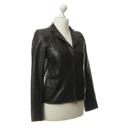 DKNY Leather jacket with two closing