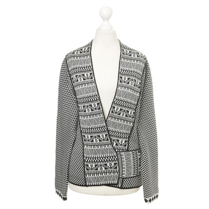Ferre Wrap-round jacket with pattern