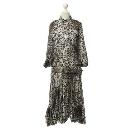 Just Cavalli Silk dress in the Animallook