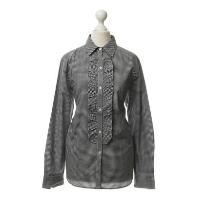 Ralph Lauren Checkered blouse with frills