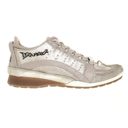 Dsquared2 Sneaker with gold shimmer
