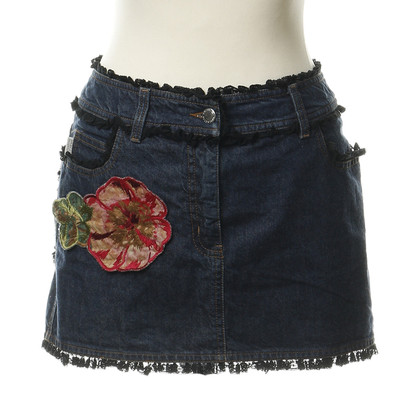 Red Valentino Jeans mini met ruffle trims