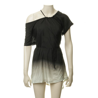 Ann Demeulemeester Silk top with a gradient