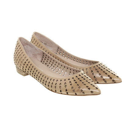 Pura Lopez Ballerine con cut-out