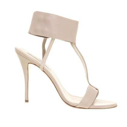 Pura Lopez High heel sandal in nude