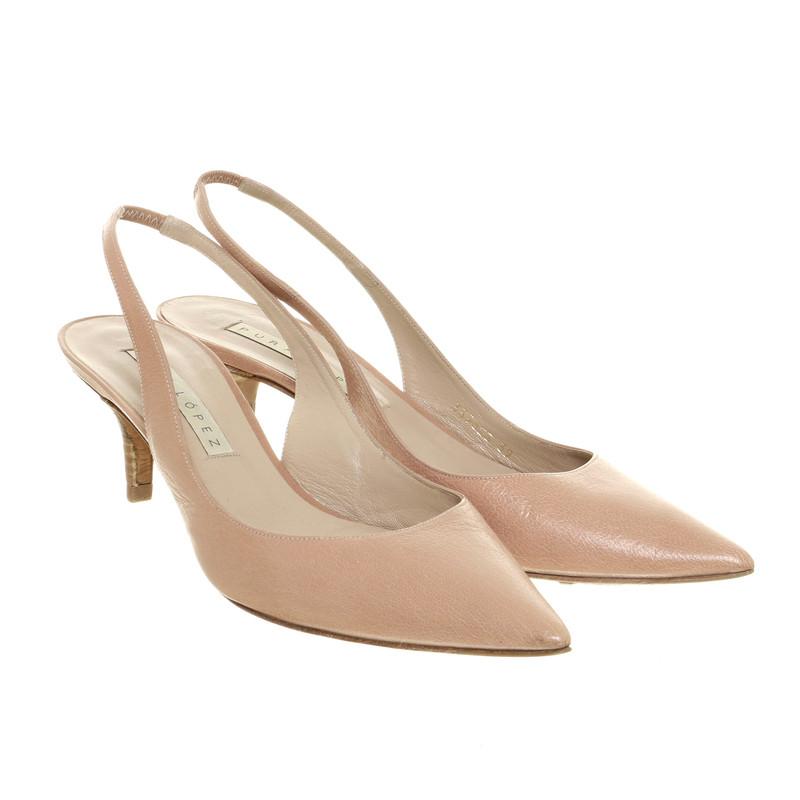 Pura Lopez Fronde pumps rose