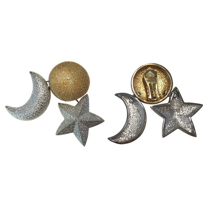 Christian Dior Earrings Moon and Star