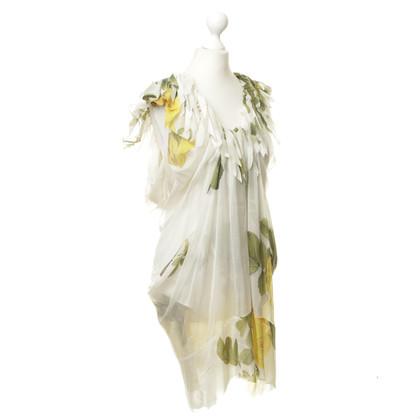 Wunderkind Silk dress with flower pattern