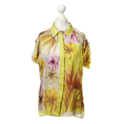 Versace Silk blouse with a floral pattern