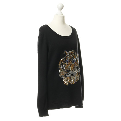 By Malene Birger Sweater with sequined Tigerprint