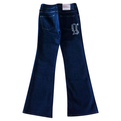 John Galliano Flared Jeans with Rhinestone Appliqué
