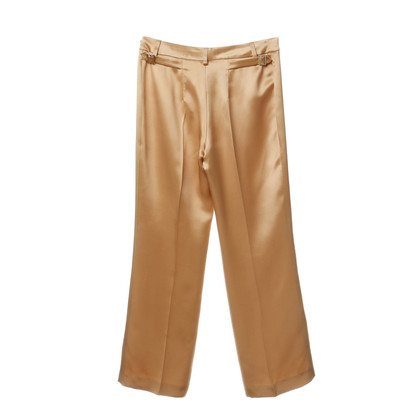 Plein Sud Silk trouser in nude with champagne gloss